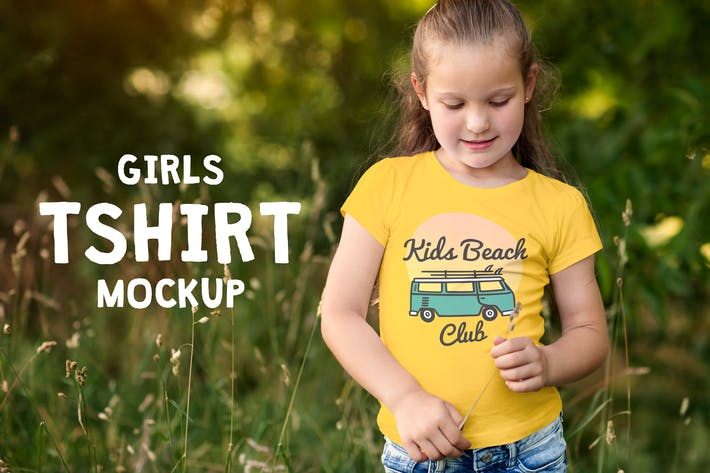 Thumbnail for Girls T-shirt Mock-up