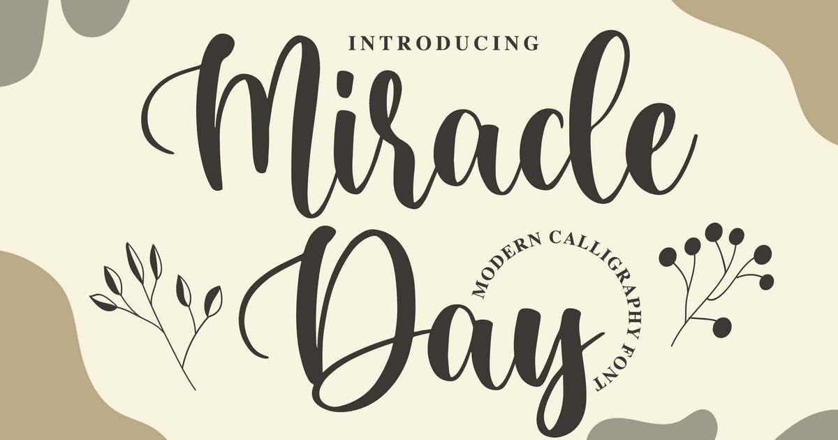 Download Miracle Day - Modern Calligraphy Font by Blankids