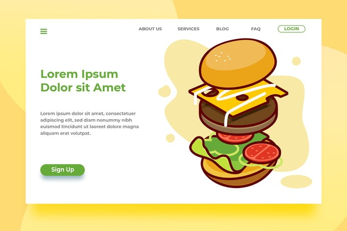 Thumbnail for Burger Shop - Banner Landing Page