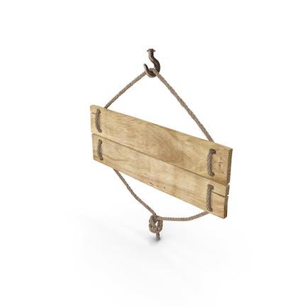 Altes Holzschild
