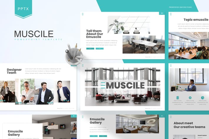 Thumbnail for Emuscile - бизнес-Шаблон Powerpoint