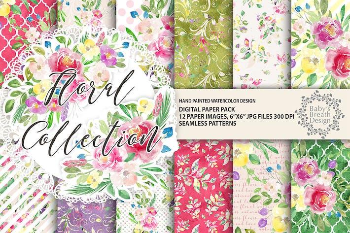 Thumbnail for Paquete de Papel Digital floral
