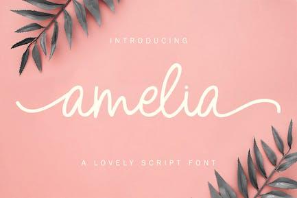 Amelia - Monoline Font