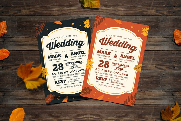 Thumbnail for Autumn Wedding Invitation