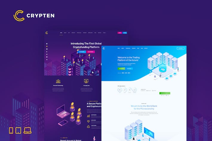 Thumbnail for Crypten – Cryptocurrency & ICO HTML Template