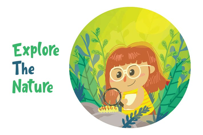Cover Image For Explore Nature - Vector Illustration