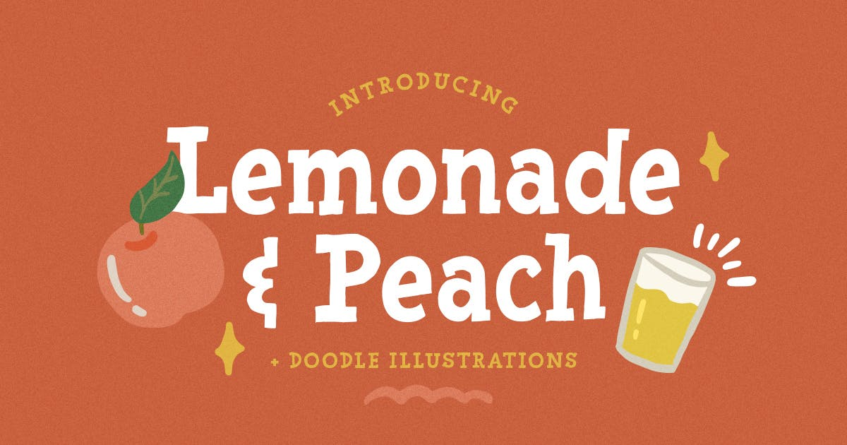 Download Lemonade and Peach - Display Font by letterhend