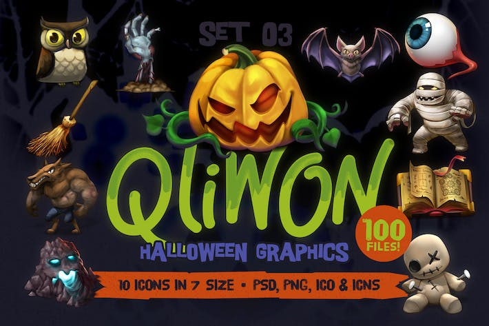 Thumbnail for QLIWON – Halloween Graphic Pack Vol.3