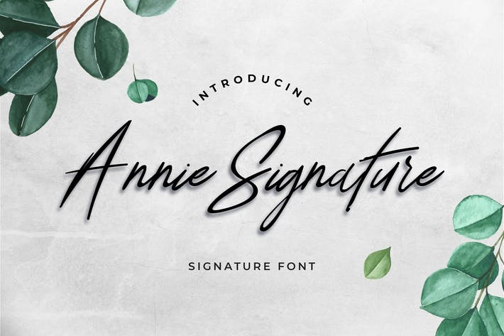Thumbnail for Annie Signature Font