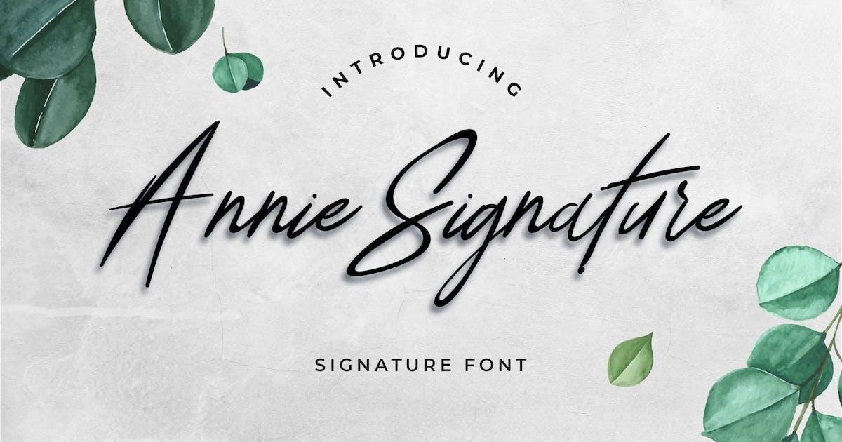 Download Annie Signature Font by uicreativenet