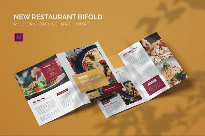 Thumbnail for Nouveau Restaurant - Brochure Bifold