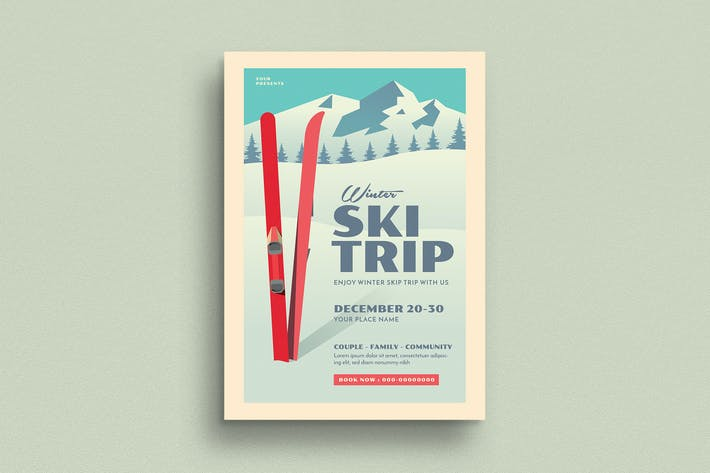 Thumbnail for Ski Trip Event Flyer