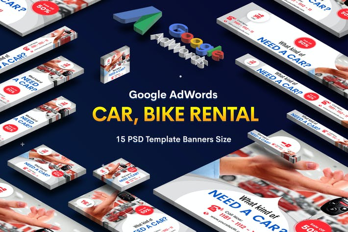 Thumbnail for Car & Bike Rental Banners Ad