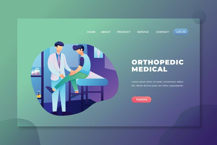 Thumbnail for Orthopedic Medical - PSD and AI Landing Page