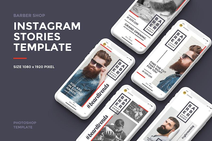 Barber Shop Instagram Story Template