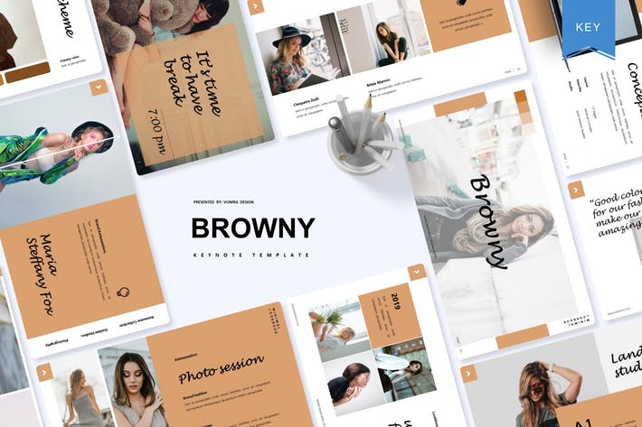 Thumbnail for Browny | Keynote Template