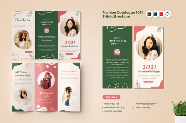 Fashion Catalogue 2021 Trifold Brochure