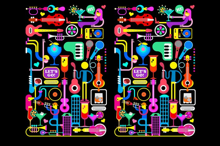 Thumbnail for Cocktail Party Vector Illustration