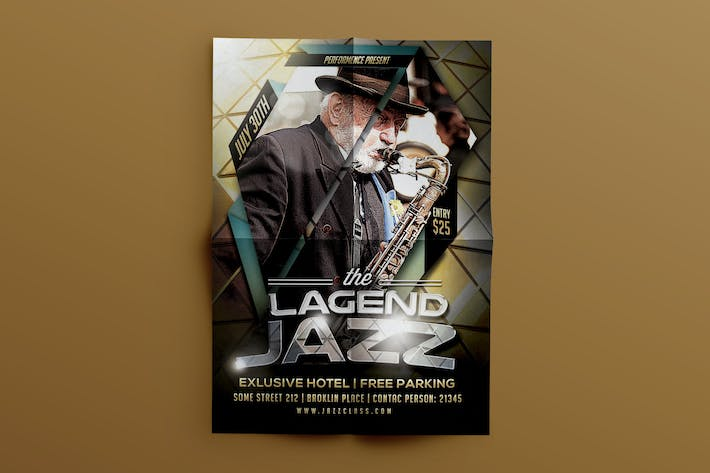 Thumbnail for Jazz Music Template