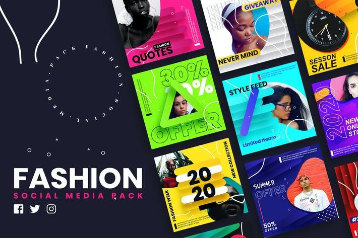 Thumbnail for Fashion Social Media Post Template