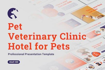 Домашние животные и ветеринарная клиника Google Slides Шаблон
