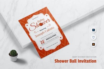 Shower Ball Baby Shower Invitation