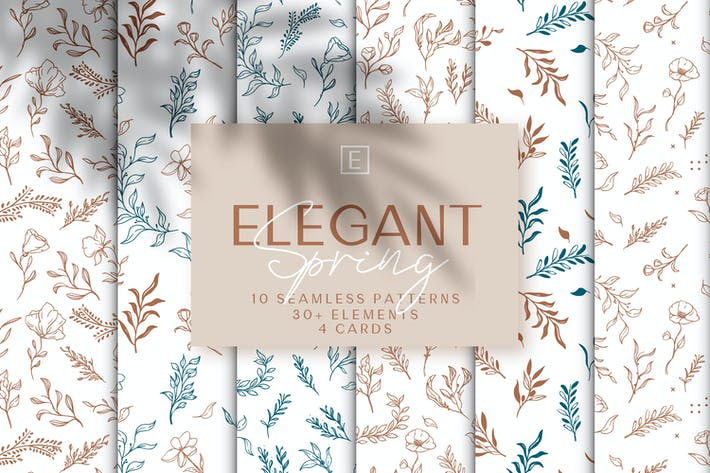 Thumbnail for Elegant Spring Flowers & Leaves
