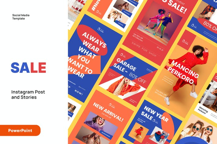 SALE - Instagram Post and Stories Powerpoint