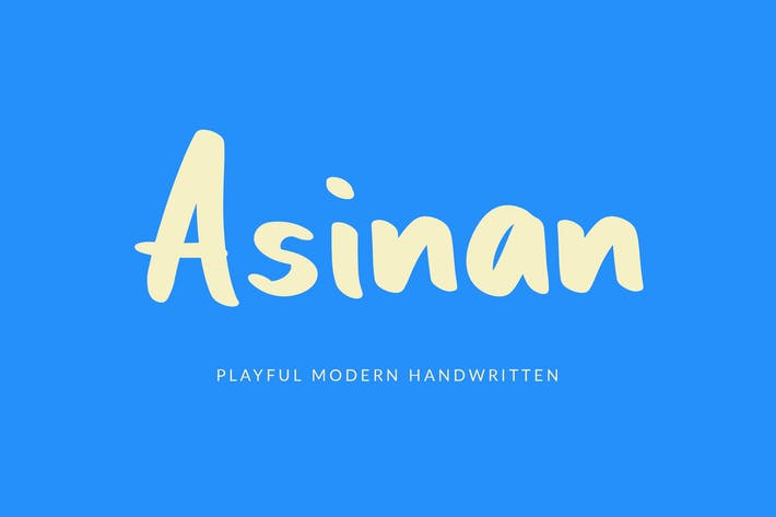Thumbnail for Asinan Playful Handwritten Font