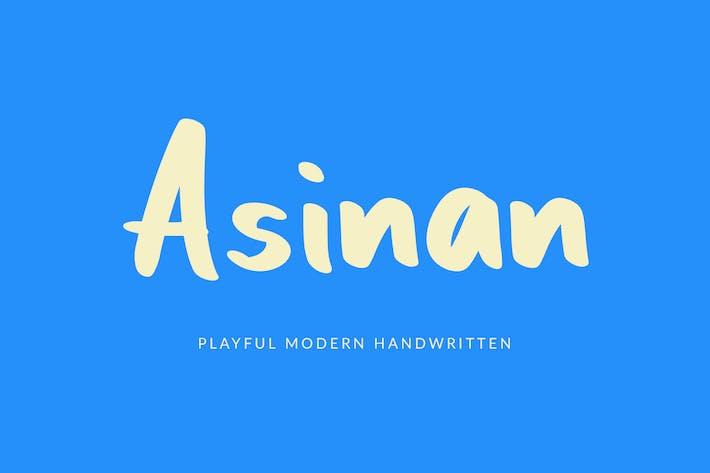 Asinan Playful Handwritten Font