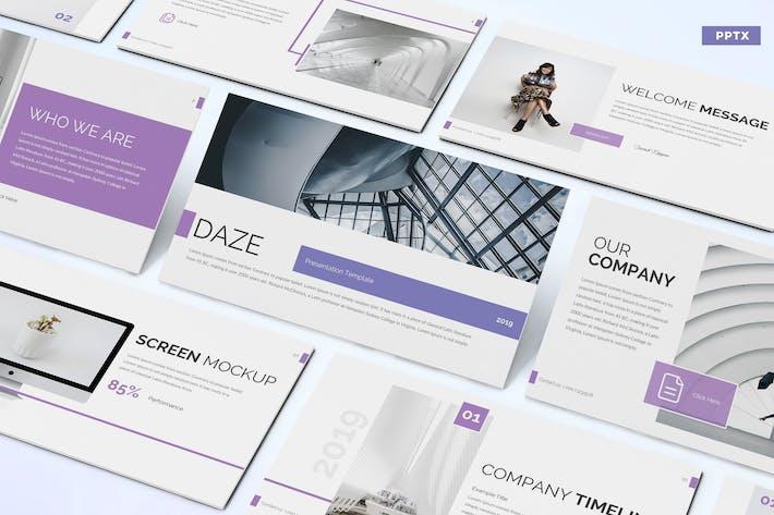 Cover Image For Daze - Шаблон Powerpoint для бизнеса