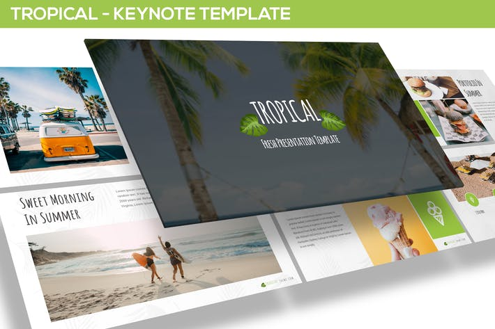 Thumbnail for Tropical - Keynote Template