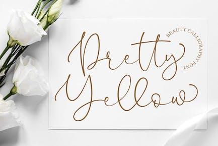 Pretty Yellow Beauty Calligraphy Font