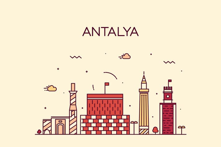Thumbnail for Antalya skyline, Turkey