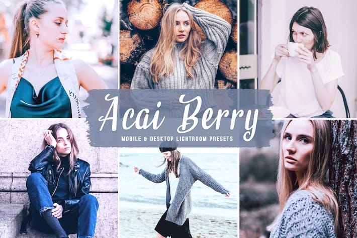 Acai Berry Мобильные и настольные пресеты Lightroom