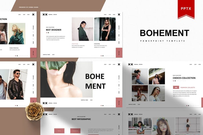 Thumbnail for Bohement   Шаблон Powerpoint