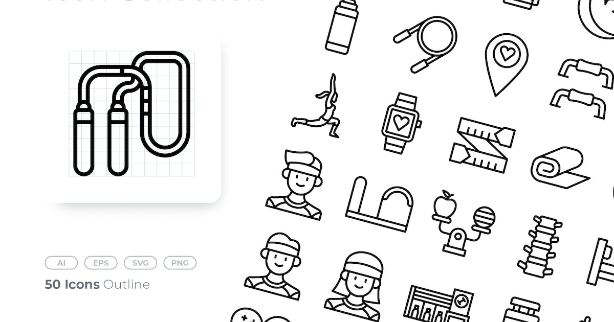 Download Pilates Outline Icon by GoodWare_Std