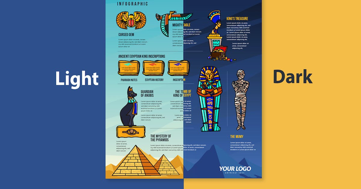 Download Ancient Egypt Infographic Elements by tokopress