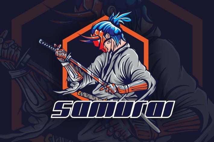 Thumbnail for Samurai Mascot Logo