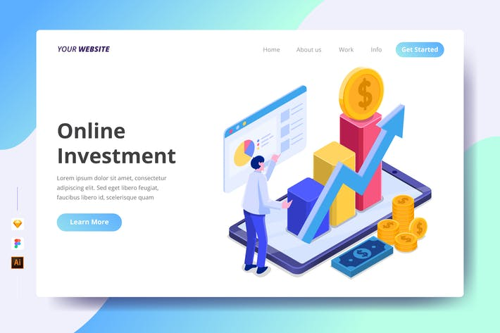 Thumbnail for Online Investment - Landing Page