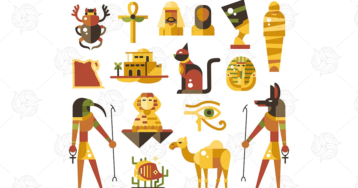 Download Egypt - flat design style icons by BoykoPictures
