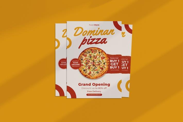 dépliant Pizza