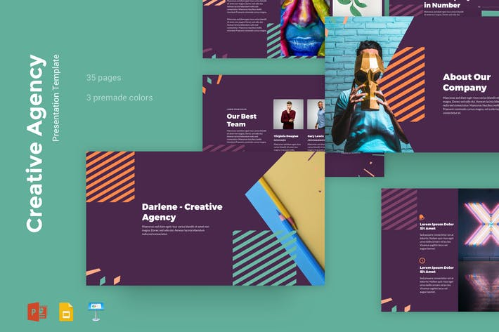 Darlene - Creative Agency Presentation Templates