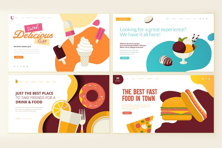 Thumbnail for Web Page Design Vorlagen for Food and Drink