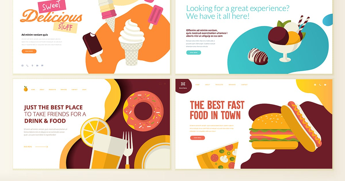 Download Web Page Design Templates for Food and Drink by PureSolution