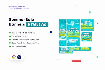 Summer Sales Banners HTML5 Ad
