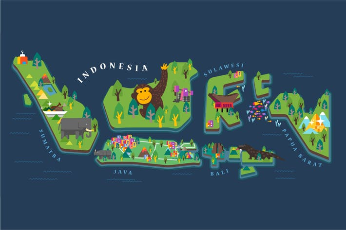 Thumbnail for Indonesia Tourism Map