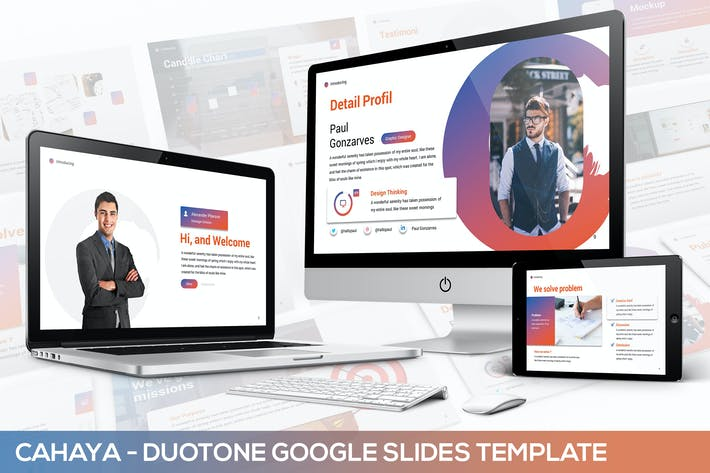 Thumbnail for Cahaya -  Duotone Google Slides Template