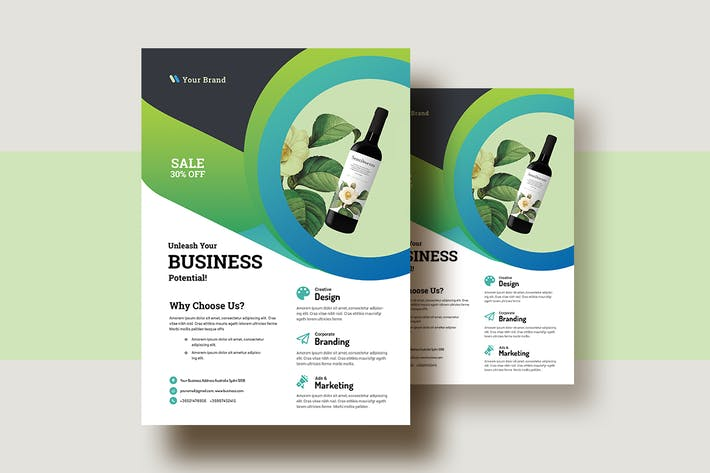 Thumbnail for Business & Corporate Ad Flyer Template V-24