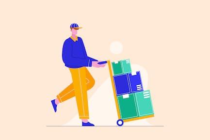 Delivery Man Deliver Packages